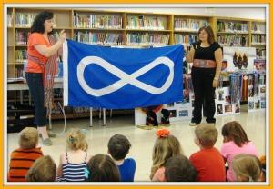 Corrine Talks About Metis Flag