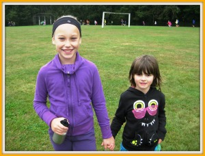Melody With Her Big Buddy Tamara