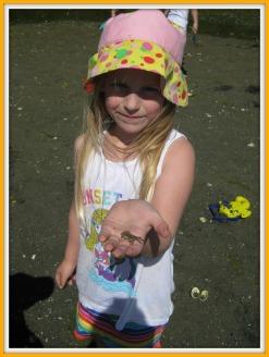 Rowan Holding A Crab