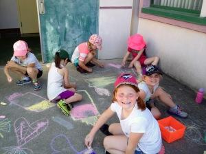 Brianna, Sadie & Alyssa ~ Sidewalk Chalk